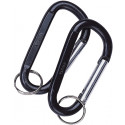 Black Jumbo 80MM Carabiner With Key Ring