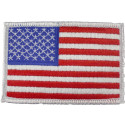 Red White Blue/White Border Embroidered US Flag Patch