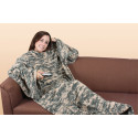 ACU Digital Camouflage Fleece Couch Blanket With Arms