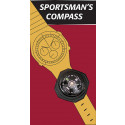 Black Sportsmans Watch Band Wrist Compass