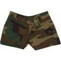 Woodland Camouflage Women's Cotton Mini Shorts