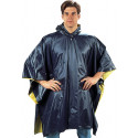 Navy Blue & Yellow Reversible PVC Rain Poncho