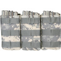 ACU Digital Camouflage MOLLE Open Top Triple MAG Pouch
