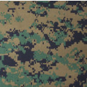 "Woodland Digital Camouflage Military 22"" x 22"" Cotton Bandana"