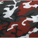 "Red Camouflage Military 22"" x 22"" Cotton Bandana"