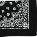 "Black Trainmen Cotton Paisley Sport 22"" x 22"" Bandana Biker Headwrap"