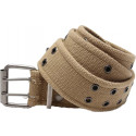 Khaki Military Pistol Belt with Double Prong Buckle