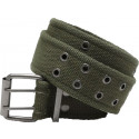Olive Drab Vintage Military Pistol Belt With Double Prong Buckle
