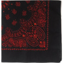 "Black & Red Trainmen Cotton Paisley 27"" x 27"" Jumbo Bandana Sport Biker Headwrap"