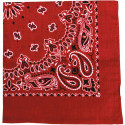 "Red Trainmen Cotton Paisley 27"" x 27"" Jumbo Bandana Sport Biker Headwrap"