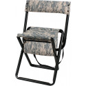 ACU Digital Camouflage Deluxe Folding Chair Stool with Storage Pouch