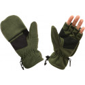 Olive Drab Fleece Sniper Fingerless Mitten Gloves