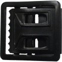 Black Open Face Web Belt Buckle 1.25""