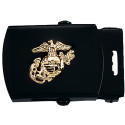 Black USMC Emblem Web Belt Buckle 1.25""