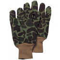 Green Camouflage Sportsmans Jersey Non-Slip Work Gloves