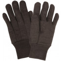 Brown Cotton Jersey Work Gloves