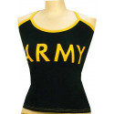 Black Army Military Women's Casual Tank Top