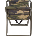 Woodland Camouflage Military Deluxe Folding Stool