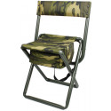 Woodland Camouflage Deluxe Folding Chair Stool with Storage Pouch
