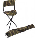 Woodland Camouflage Military Deluxe Nylon Collapsible Stool