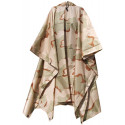Tri-Color Desert Camouflage Rip-Stop Waterproof Hooded Poncho