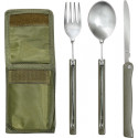 Olive Drab Military 3 Piece Chow Set with Case