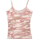 Baby Pink Camouflage Casual Womens Tank Top