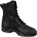 Black Forced Entry Side Zip Leather Tactical Boots