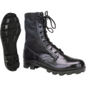 Black Leather Panama Sole Military Combat Jungle Boots
