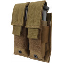 Coyote Brown Military Double Pistol Mag MOLLE Pouch