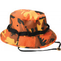 Savage Orange Camouflage Military Wide Brim Jungle Hat