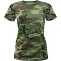 Women's Woodland Camouflage Longer Slim T-Shirt