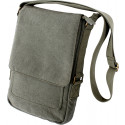 Olive Drab Vintage Military Canvas Tactical Tech iPad Shoulder Bag