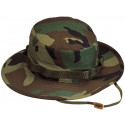 Woodland Camouflage Military Wide Brim Boonie Hat