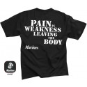 Black USMC Pain Is Weakness US Marines Double Sided T-Shirt