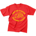 Red United States Marine Corps Bulldog Distressed USMC T-Shirt