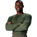 Olive Drab Thermal Knit Crew Neck Underwear Undershirt