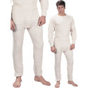 White Extra Heavyweight Thermal Knit Underwear Bottoms
