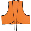 Safety Orange Vinyl Tie Front Safety Vest
