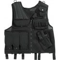 Black Military Quick Draw Tactical Gun Holster Vest