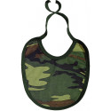 Woodland Camouflage Infant Bib