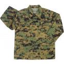Woodland Digital Camouflage Kids Military BDU Shirt
