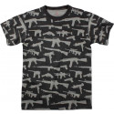 Black Guns & Rifle Military Vintage T-Shirt