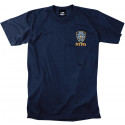 Navy Blue Design Officially Licensed Embroidered NYPD Graphic T-Shirt