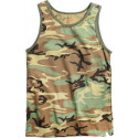 Woodland Camouflage Military Tank Top