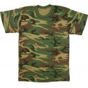 Woodland Camouflage Kids Military Tactical T-Shirt