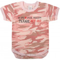 Baby Pink Camouflage Infant Thank My Dad One Piece Bodysuit