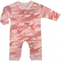 Baby Pink Camouflage Infant Long Sleeve & Legs One Piece Bodysuit