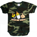 Woodland Camouflage Infant Choose Your Weapon One Piece Bodysuit