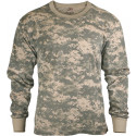 Kids ACU Digital Camouflage Tactical Camo Long Sleeve T-Shirt Crew-Neck Tee